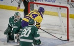 Minnesota State Mankato's Ryan Sandelin scored against Bemidji State goalie Zach Driscoll during a December game. The Mavericks are ranked No. 2 in
