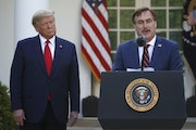 Twitter banned My Pillow CEO Mike Lindell late Monday, after earlier this month banning President Donald Trump from its platform. File photo of Lindel