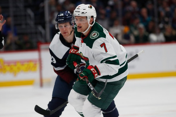 Nico Sturm will return tonight as the Wild prepare to face the Kings at Xcel Energy Center.