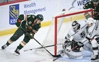 Wild center Joel Eriksson Ek tucked the tying goal behind Kings goaltender Calvin Petersen in the third period, but it only took four minutes for L.A.