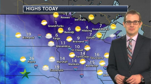 Morning forecast: Chilly but partly sunny, high 14