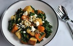 Meredith Deeds • Special to the Star TribuneButternut Squash and Kale Panzanella Salad.