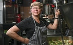 Pam Knutson — she calls herself a Soupa Star — has been preparing vegetarian soups for a small but devoted following for more than 20 years.  AARO