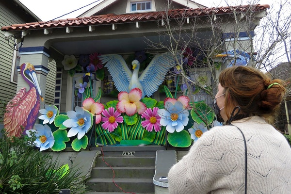 Thousands of houses decorated for Mardi Gras