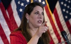 FILE - In this Nov. 9, 2020 file photo, Republican National Committee chairwoman Ronna McDaniel speaks during a news conference at the Republican Nati