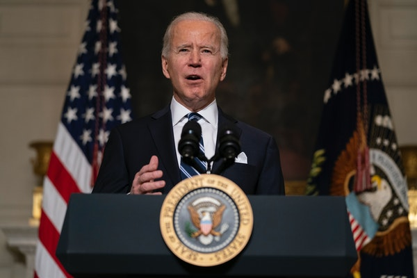 President Joe Biden delivered remarks on climate change and green jobs in the State Dining Room of the White House on Wednesday, Jan. 27, 2021.