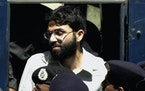 FILE - In this March 29, 2002 file photo, Ahmed Omar Saeed Sheikh, the alleged mastermind behind Wall Street Journal reporter Daniel Pearl's kidnap-
