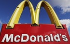 FILE - This April 9, 2020 file photo shows a McDonald's sign in Wheeling, Ill. McDonald's ended 2020 on a strong note, recovering nearly all of th