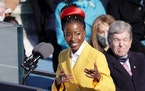 Youth Poet Laureate Amanda Gorman speaks at the inauguration of President Joe Biden on the West Front of the U.S. Capitol on Jan. 20, 2021, in Washing
