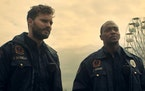 """Jamie Dornan and Anthony Mackie in """"Synchronic."""""""
