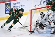 Wild center Joel Eriksson Ek scored the Wild's lone goal against the Kings on Tuesday. On Thursday he was moved up the lineup to work with Marcus Jo