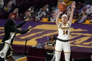 Gophers guard Sara Scalia had a career game on Thursday in a win over Purdue.