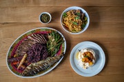 Photo by Lauren CutshallThe surf and turf offering by Union Hmong Kitchen for Valentine's Day includes a curated soundtrack.
