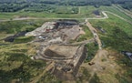 Waste Management wants to pile more trash in its Burnsville landfill, above.
