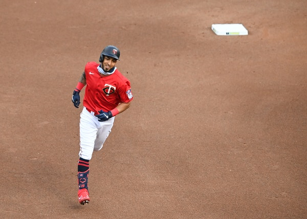 Eddie Rosario rounded the bases after a home run against Cleveland on Aug. 1 at Target Field.