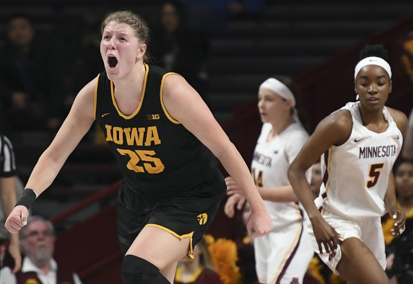 Monika Czinano, of Watertown, Minn., is averaging 19.8 points per game and shooting 69.4% from the field after her 34-point, 17-for-19 game Thursday v