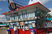 Minnesota's oldest Dairy Queen dates to 1947 and stands at Lexington and Larpenteur in Roseville.