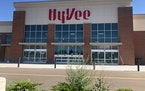 The exterior of the Hy-Vee in Spring Lake Park is done, but not interior work. (JOHN EWOLDT/Star Tribune)