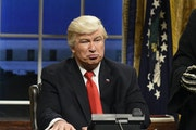"""Saturday Night Live"" and late night talk show hosts made hay with impersonations and jokes about former President Donald Trump, with  Alec Baldwi"