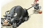 Sack cartoon: Reddit and the market
