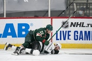 "Kevin Fiala of the Wild said he realized instantly that his check from behind Thursday on King defenseman Matt Roy was ""a bad hit."""