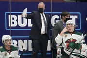Wild coach Dean Evason directed his team during Tuesday's game against the Avalanche in Denver.