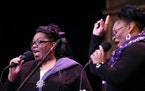 """Jearlyn, left, and Jevetta Steele will bring """"Healing, Peace and Joy."""""""