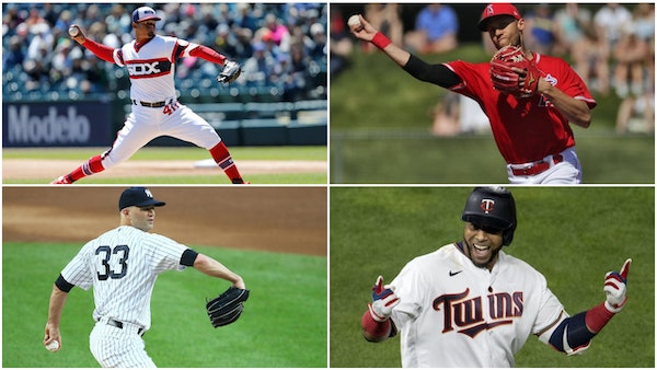 Clockwise from top left: Alex Colome, Andrelton Simmons, Nelson Cruz and J.A. Happ.