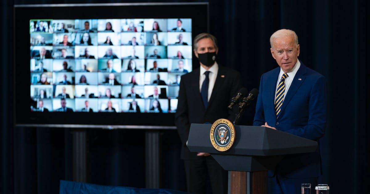 Biden strikes tough tone on Russia in diplomatic push - Minneapolis Star Tribune
