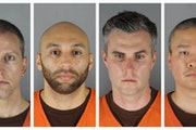 This combination of photos provided by the Hennepin County Sheriff's Office shows, from left, Derek Chauvin, J. Alexander Kueng, Thomas Lane and Tou