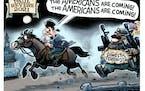 Sack cartoon: Paul Revere in 2021