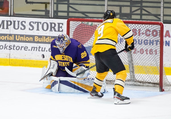 Goalie Dryden McKay, whose 0.90 goals-against average leads the nation, has led Minnesota State Mankato to a 9-2-1 record.