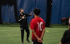 Noel Quinn, director of youth development for Minnesota United's Youth Development Program, worked recently with prospects at the club's training