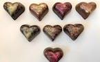 Heartfelt chocoaltes from Dancing Bear Chocolates in Minneapolis.