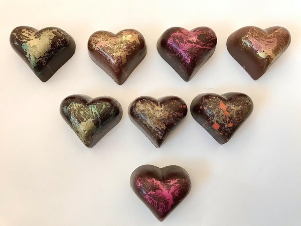 Heartfelt chocoaltes from Dancing Bear Chocolates in Minneapolis.