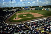 Fans watched the Toronto Blue Jays take on the Twins at Hammond Stadium prior to last year's spring training being shut down.