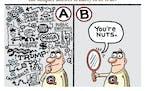 Sack cartoon: Occam's razor