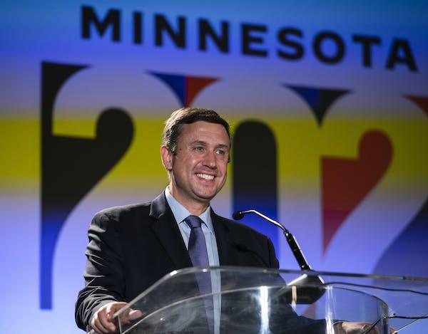 Party Chairman Ken Martin announced that Joe Biden won Minnesota at the DFL's election night watch party Nov. 3.