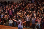 Nur-D had the audience on their feet during his performance at the MLK celebration in St. Paul in 2020.  GLEN STUBBE • glen.stubbe@startribune.com M