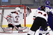 Robby Kuchinski-Helgeson gets goals in the 'dirty zone' for Little Falls