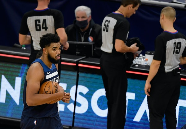 Wolves center Karl-Anthony Towns has missed the past 12 games in the COVID-19 protocol, but was upgraded to doubtful in Sunday's status report.