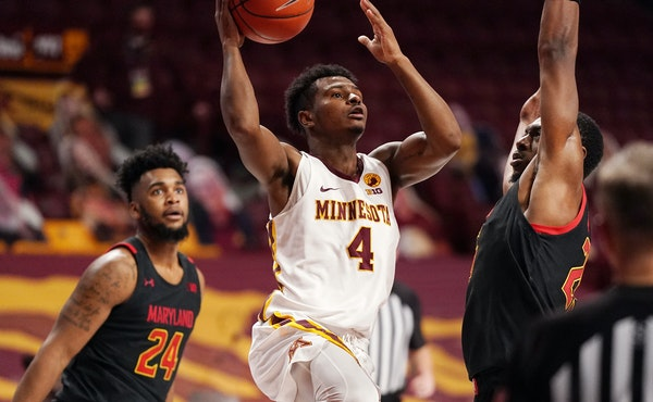 Gophers guard Jamal Mashburn Jr. tied a season high with all 10 of his points in the first half of Thursday's 76-72 loss at Rutgers.