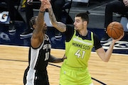 The Timberwolves' Juancho Hernangomez missed 20 days while battling COVID-19. Hernangomez played nine minutes and scored five points in his first ga