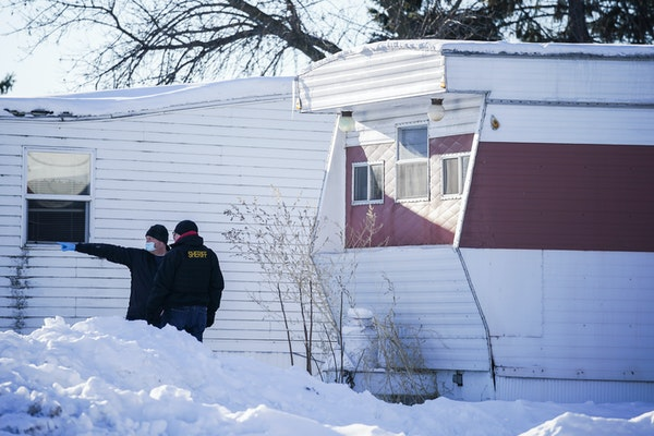 Investigators with the Buffalo Police Department, Wright County Sheriff's Office and Minneapolis police searched the residence of Buffalo shooting s