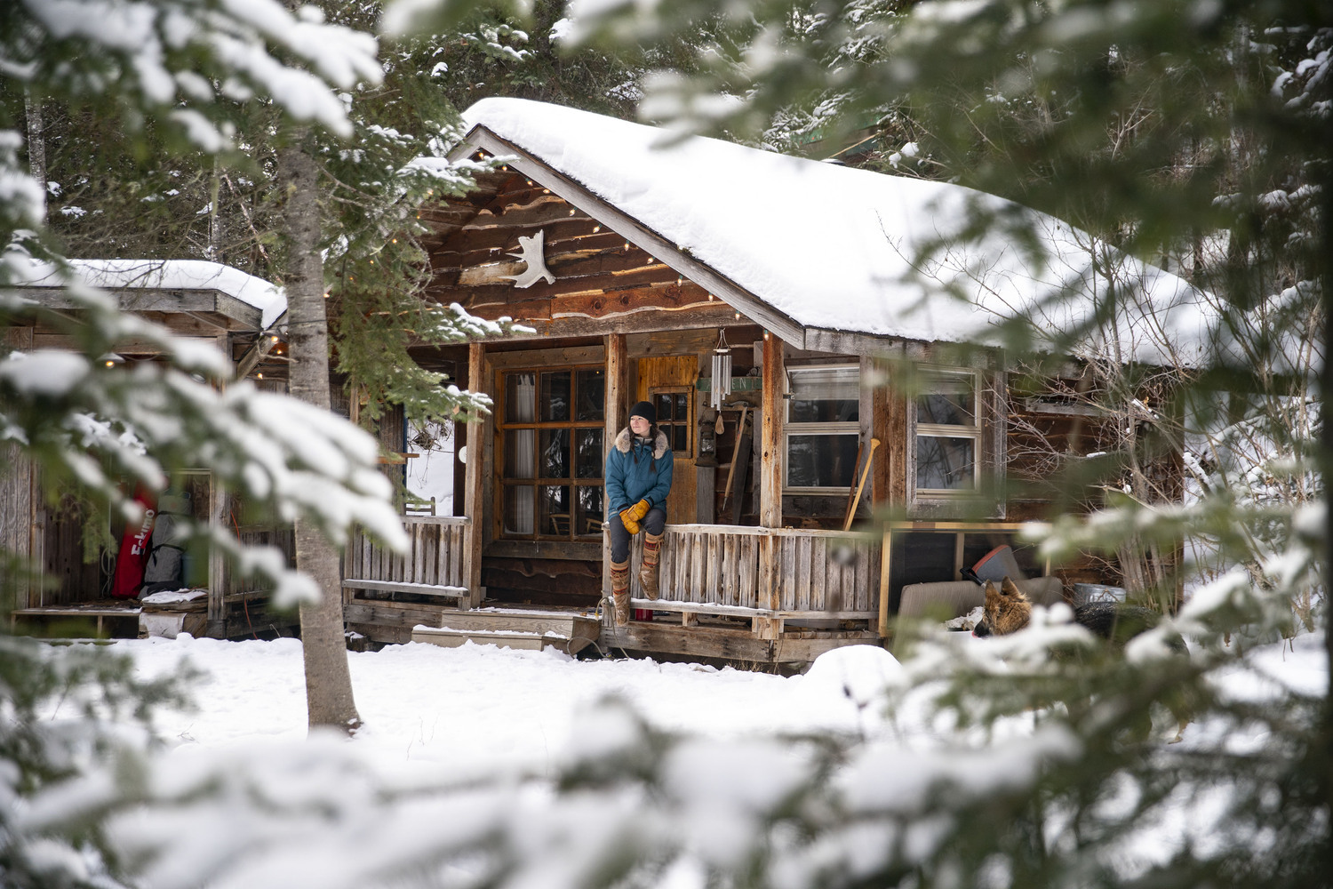 """Ashley Bredemus has settled into the 200-square-foot """"Pepper Shack"""" (built by her mom and dad in the 1980s) on the grounds of Birchwood Wilderness Camp for Boys."""