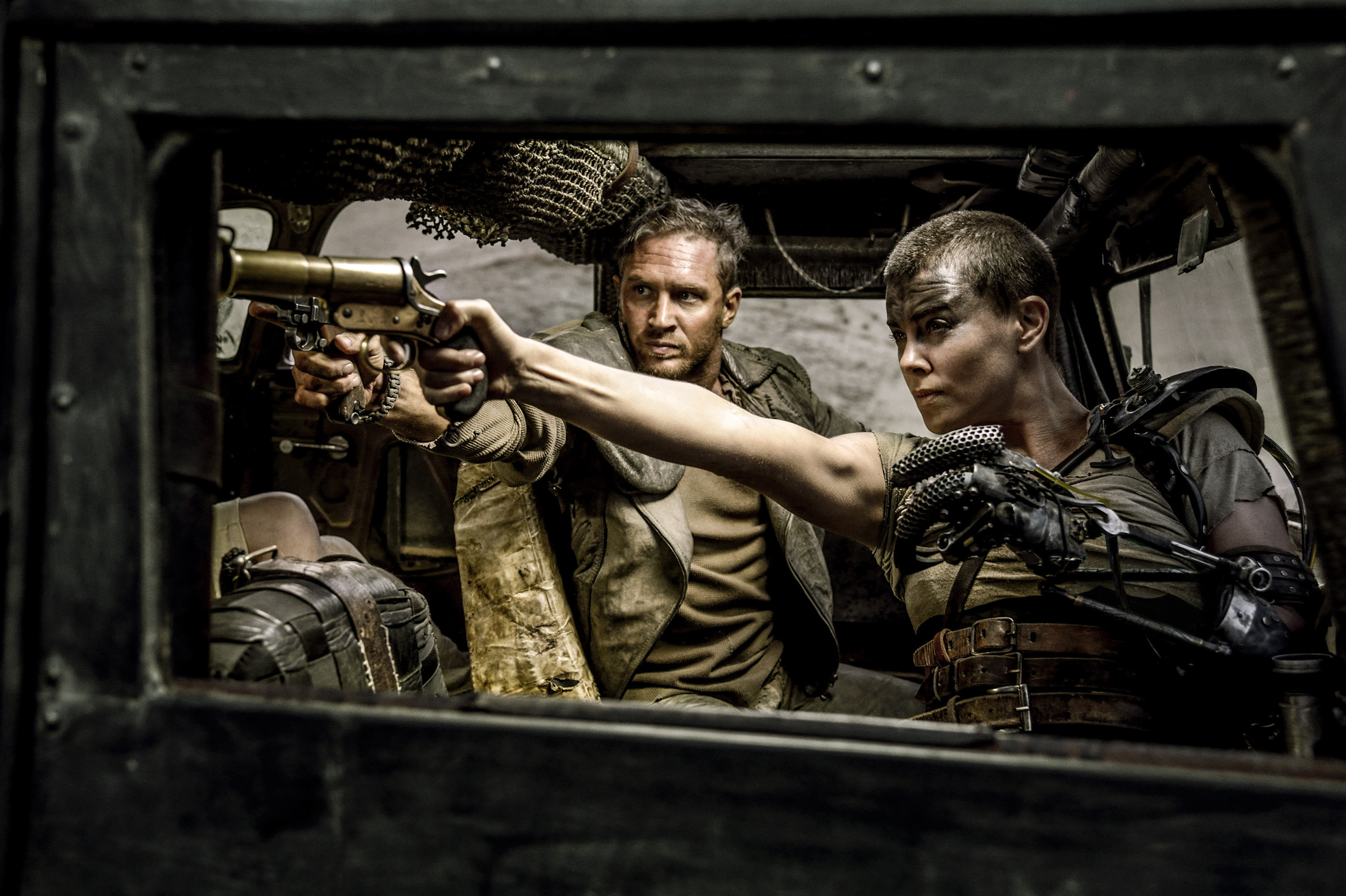 Tom Hardy and Charlize Theron star in 'Mad Max: Fury Road.'