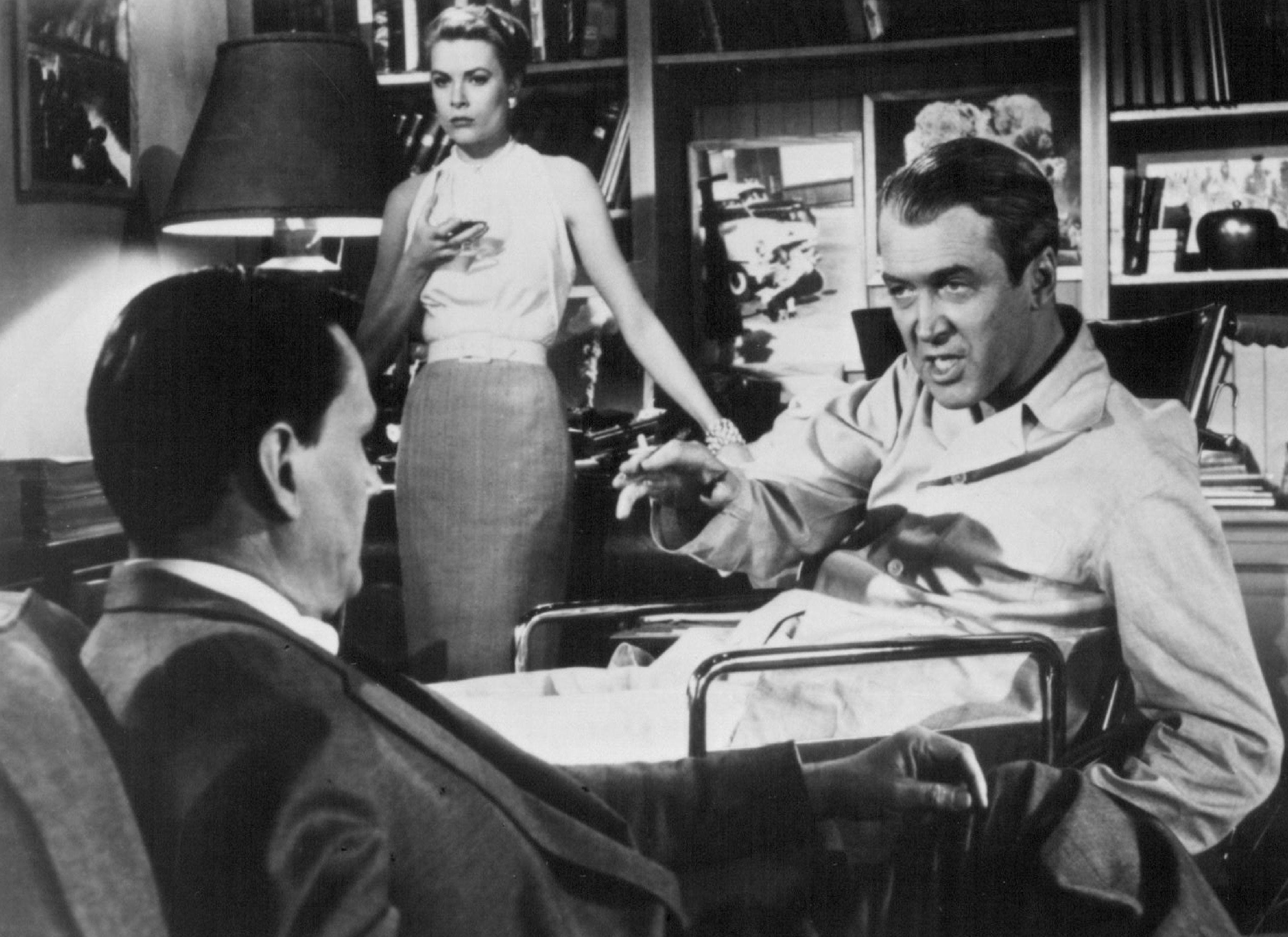 'Rear Window' starred Grace Kelly and Jimmy Stewart.