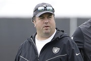 Paul Guenther in 2019, when he was the Raiders' defensive coordinator. He was fired in December.
