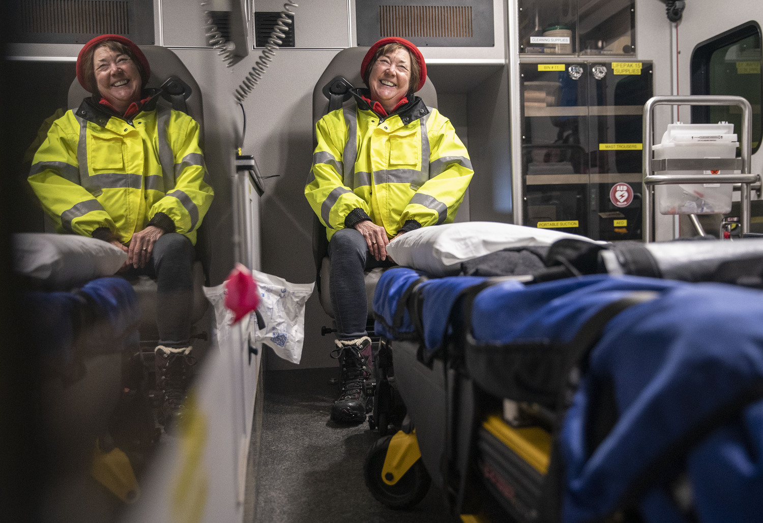 Laura Popkes became an EMT over time with the volunteer fire department. She and her husband, Daryl, started a new life on the Gunflint Trail in 1998.
