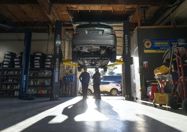 Michael Kevane's Prius received a new catalytic converter in San Jose, Calif., after the vehicle's old one was stripped and stolen.